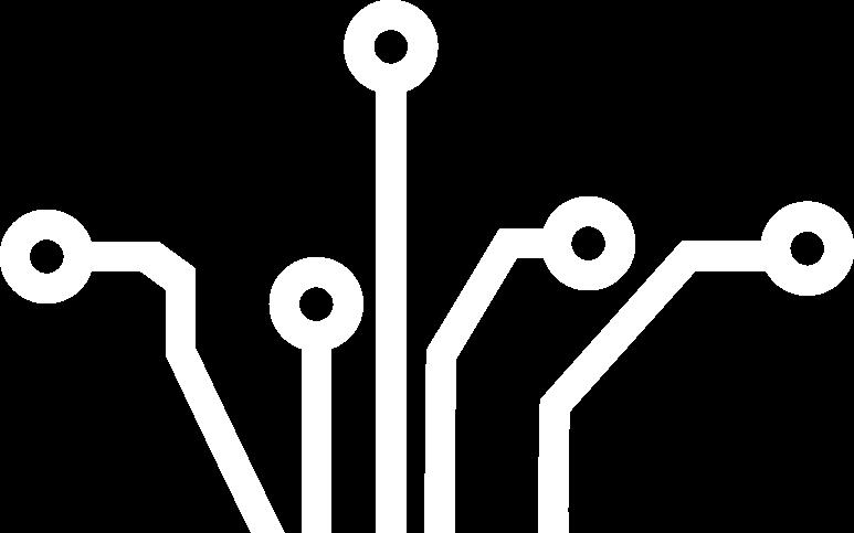 Pictogramme Circuit Électronique blanc