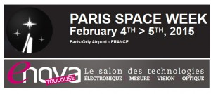 Bandeaux salons Paris Space Week et Enova Toulouse